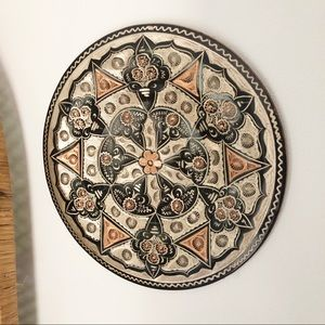 Copper Etched Decorative Wall Plate Boho Decor
